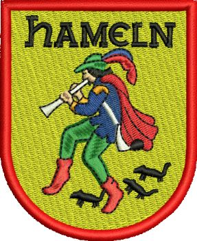 Hameln Pied Piper Embroidered Badge
